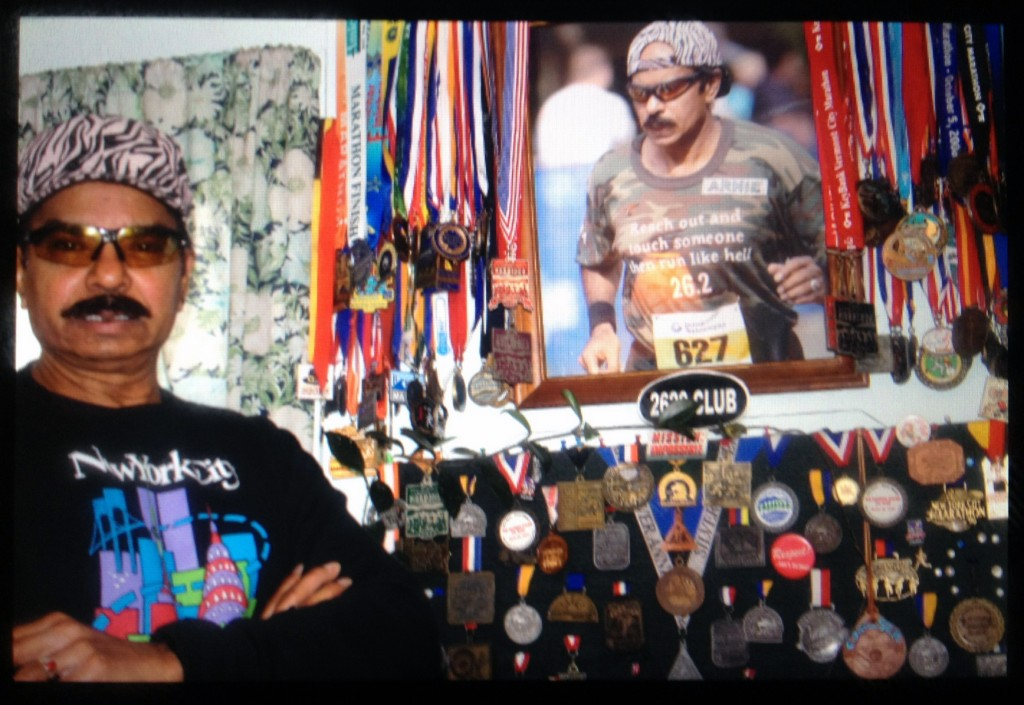 Arnie James plans to run his 144th marathon. (Selin Thomas/BU News Service)