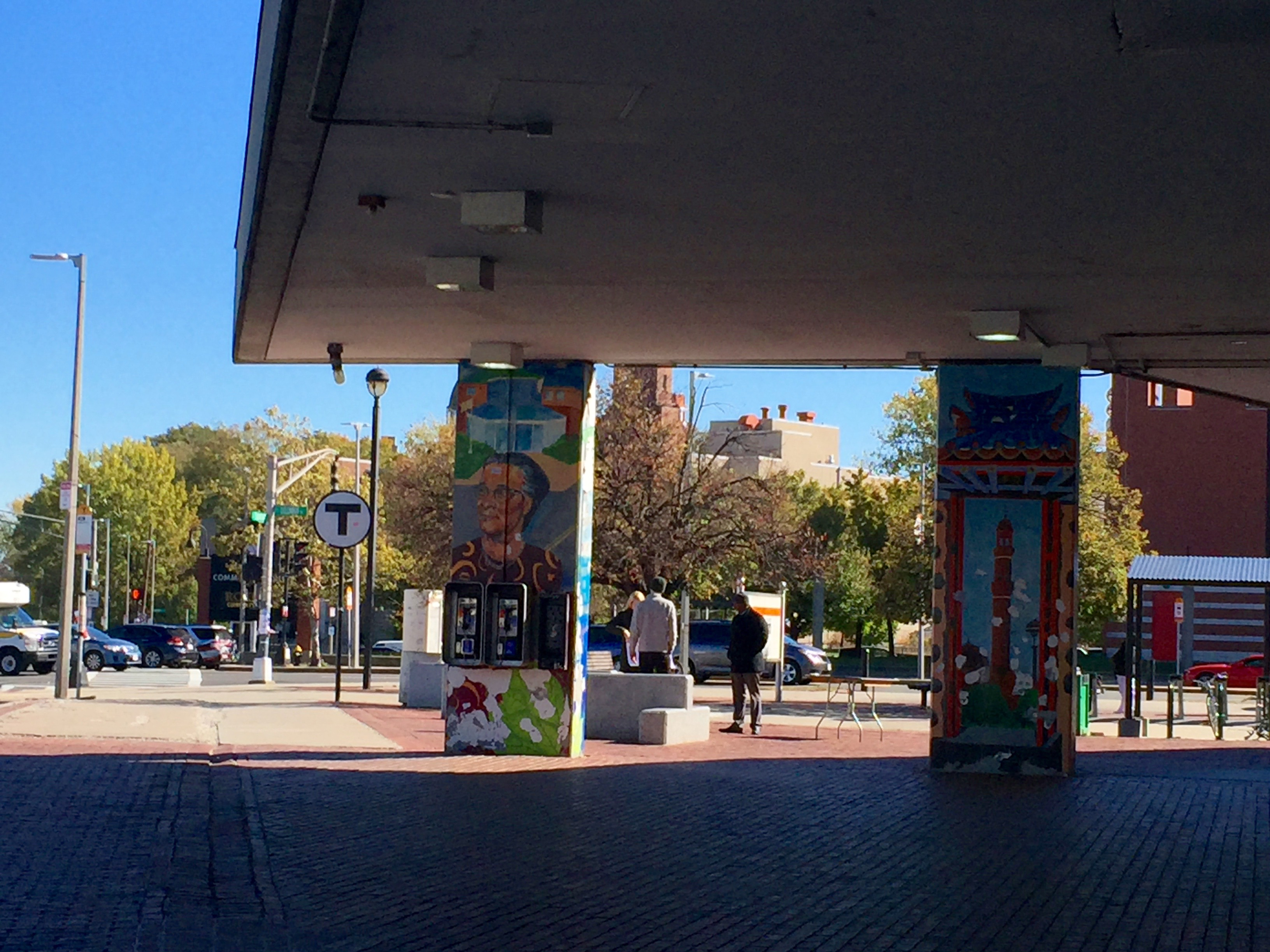 This mural can be found at the Roxbury Crossing T station in Roxbury.