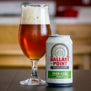 "Ballast Point Brewing Company's ""Even Keel"" session IPA. Photo by Four Brewers."