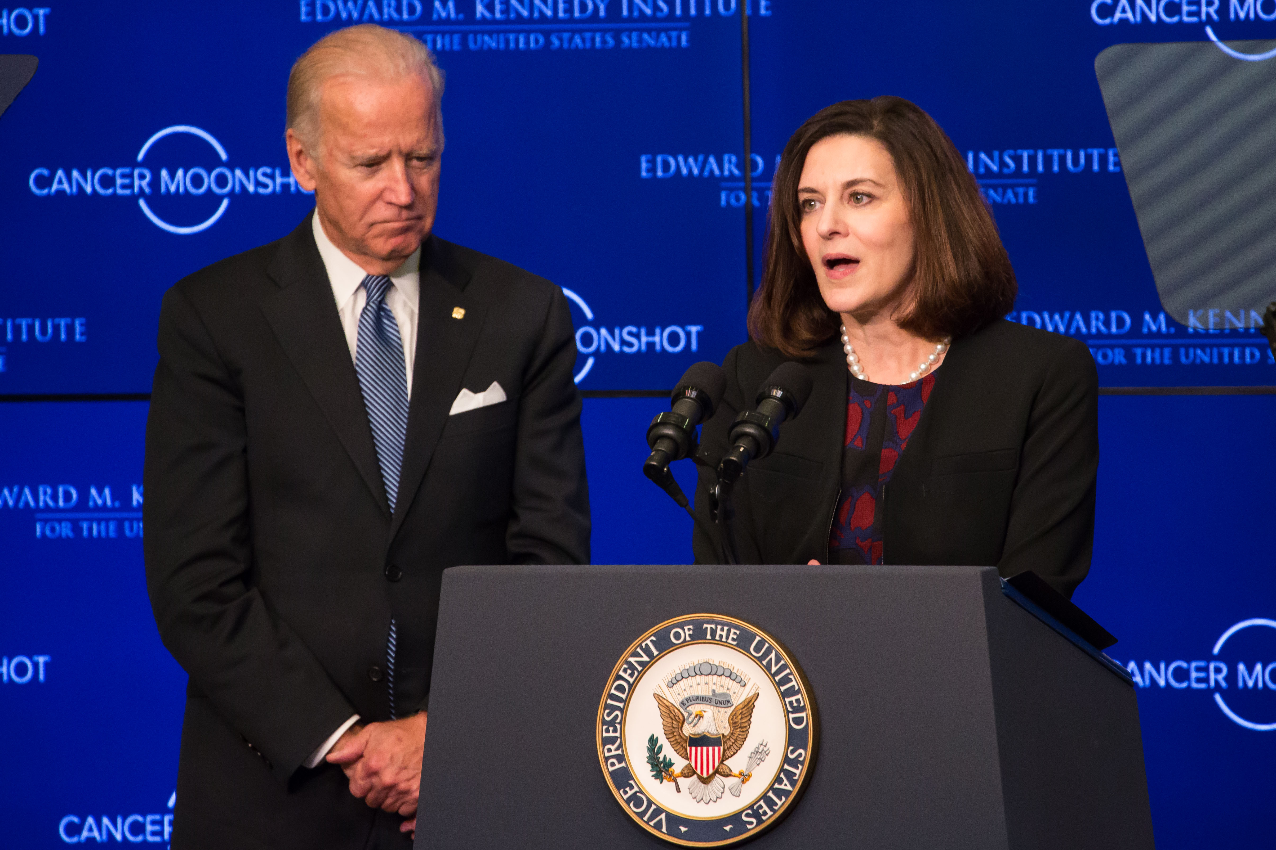Victoria Reggie Kennedy and Joe Biden