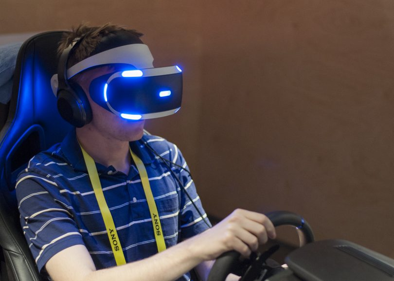 behind the wheel with playstation vr and gran turismo boston university news service. Black Bedroom Furniture Sets. Home Design Ideas