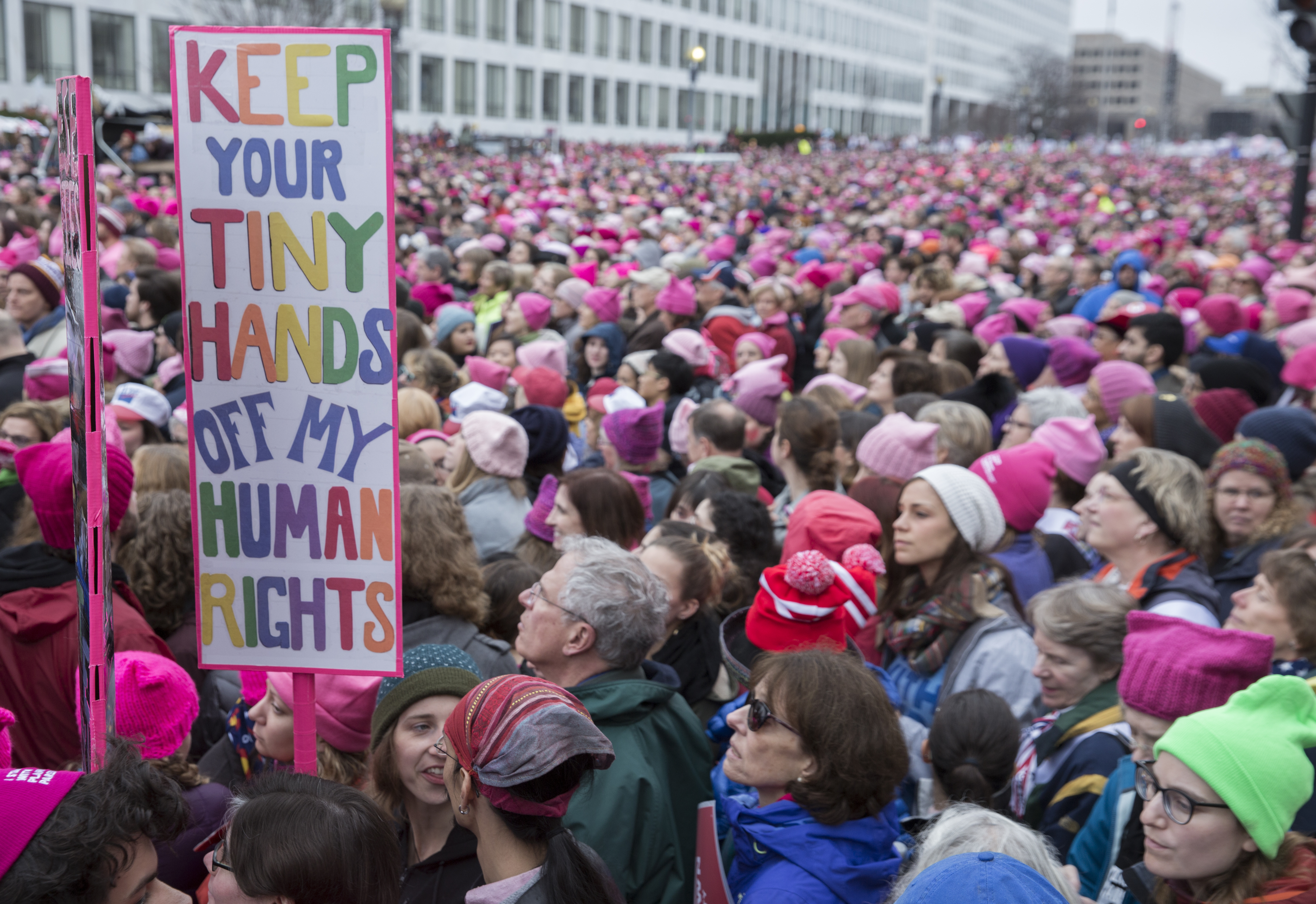 e934f6a12 Hundreds of Thousands March in Washington for Women's Rights ...